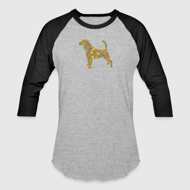 Beagle Flower Shirt - Baseball T-Shirt