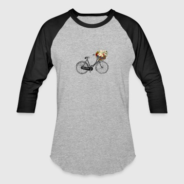 Bicycle with Flowers - Baseball T-Shirt