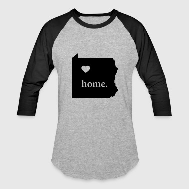 Pennsylvania State Pride Gift - Love Home - Proud - Baseball T-Shirt