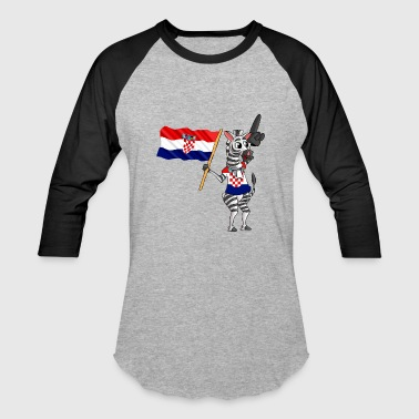 A Croatian Zebra - Baseball T-Shirt