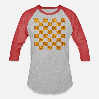 Golden (chess checkers draughts) glitter gold - Unisex Baseball T-Shirt