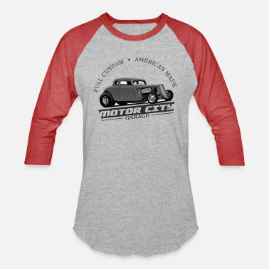 1934 Motor City Grey Ghost - Unisex Baseball T-Shirt