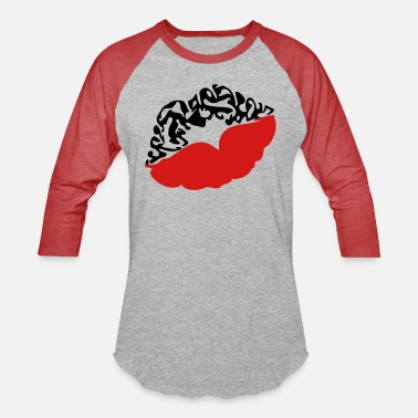 Deadly Sexy Vampire Luscious Red Lips Design For ♥ټXxSexy Tattooed Luscious Sensual Lips xXټ♥ - Unisex Baseball T-Shirt