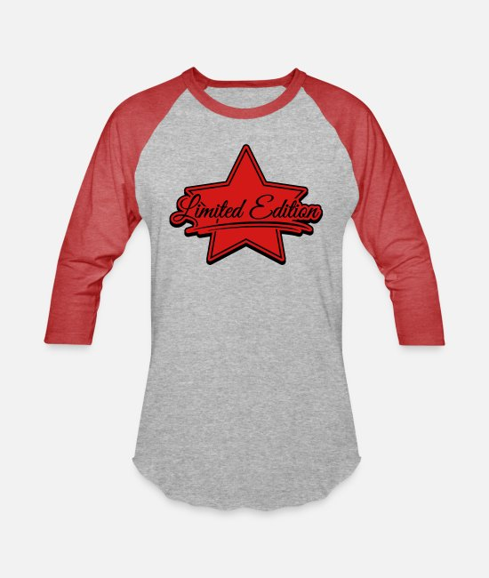Dope T-Shirts - limited_edition_design_by2 - Unisex Baseball T-Shirt heather gray/red