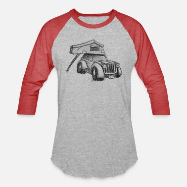 Roof Roof-Top-Tent Camping Car Truck Vacation Gift - Unisex Baseball T-Shirt