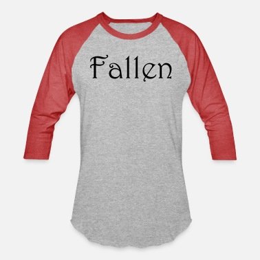 Fallen Angel Fallen text - Unisex Baseball T-Shirt