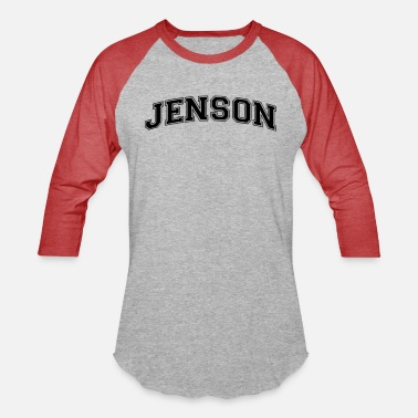 Jenson jenson name arched college style text - Unisex Baseball T-Shirt