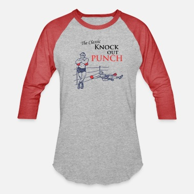 Knock Out The Classic Knock Out Punch - Unisex Baseball T-Shirt