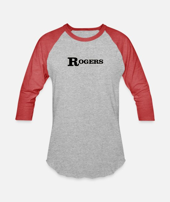 Jazz T-Shirts - Rogers Drums Black - Unisex Baseball T-Shirt heather gray/red