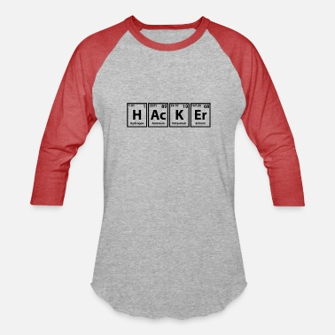 Source Hacker periodic table elements saying computer - Unisex Baseball T-Shirt
