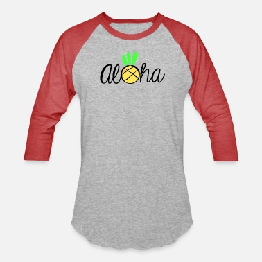 Bliss Aloha Pineapple Bliss Logo - Unisex Baseball T-Shirt