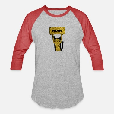 Hipster Awesome LOVE Cats Gold Glitter - Unisex Baseball T-Shirt