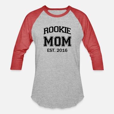 Mom To Be Rookie Mom funny mom to be baby - Unisex Baseball T-Shirt