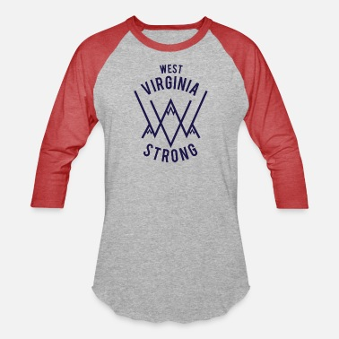 west virginia - Unisex Baseball T-Shirt