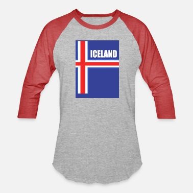 Football Logo Iceland Football logo - Unisex Baseball T-Shirt