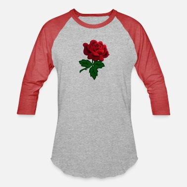 Mickey Heart Hands red rose - Unisex Baseball T-Shirt