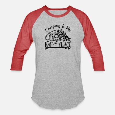 Renner Happy camping - Unisex Baseball T-Shirt