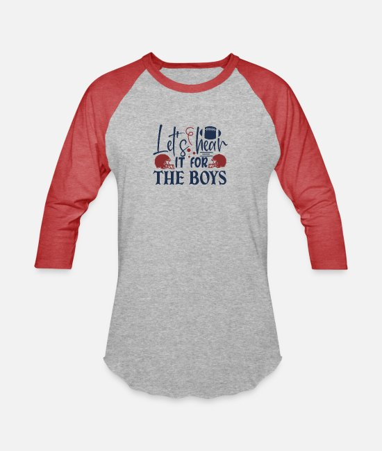 Therapy T-Shirts - Let s hear it for the boys - Unisex Baseball T-Shirt heather gray/red