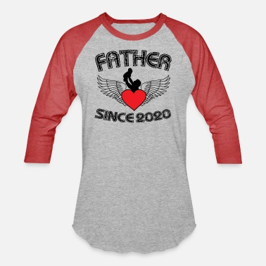 Father Since 2020 - Printed Tees for New Father - Unisex Baseball T-Shirt