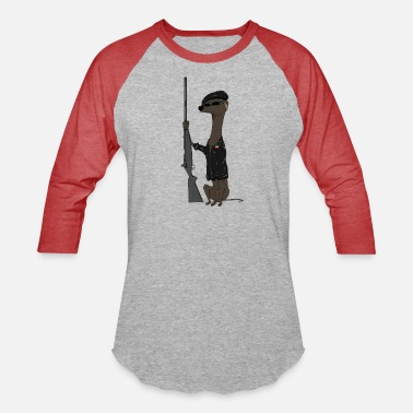 Party Dog of the Black Panther Party (transparent) - Unisex Baseball T-Shirt