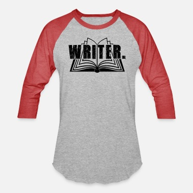 Valentine Typewriter Writer In Vintage Typewriter Text Shirt - Unisex Baseball T-Shirt