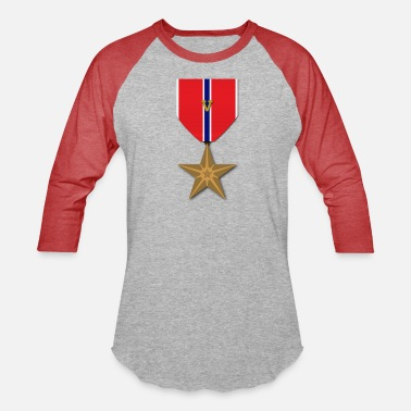 Bronze Bronze Star with Valor Device - Unisex Baseball T-Shirt