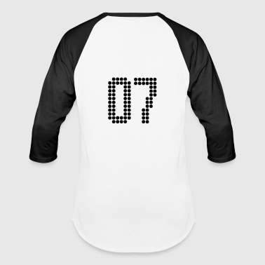 07, Numbers, Football Numbers, Jersey Numbers - Baseball T-Shirt