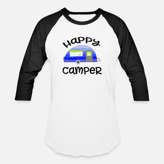 Happy Camper Camping Fire Camp Wood Vacation Funny Unisex Sweatshirt