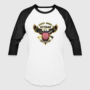 United States Armed Forces United States Armed Forces Veteran, Proudly Served - Baseball T-Shirt