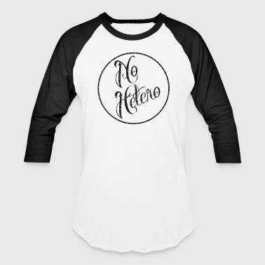 No Hetero Black - Baseball T-Shirt