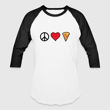 Support World Peace PeaceLovePizza - Baseball T-Shirt