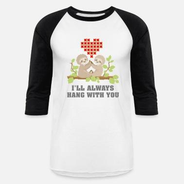 couples ugly ugly christmas sweater sloths couple baseball t shirt