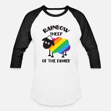 Bisexual Rainbow Sheep Of The Family LGBT Pride - Baseball T-Shirt