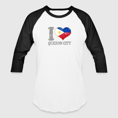 I Love Filipino Girls I Love Quezon City Philippines Filipino Flag Pride - Baseball T-Shirt