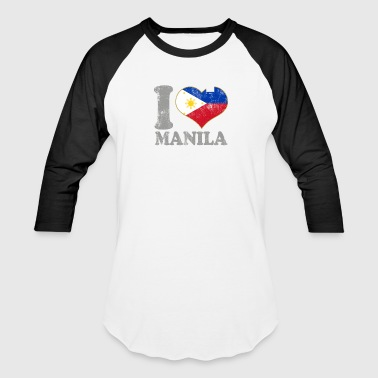 I Love Filipino Girls I Love Manila Philippines Filipino Flag Pride - Baseball T-Shirt