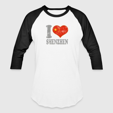 Shenzhen I Love Shenzhen China Chinese Flag Pride - Baseball T-Shirt