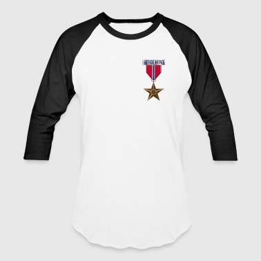 Medal Bronze Star Office Hero Funny Military Army - Baseball T-Shirt