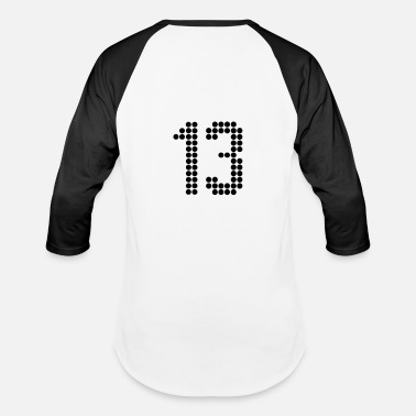 Jersey Number 13, Numbers, Football Numbers, Jersey Numbers - Baseball T-Shirt