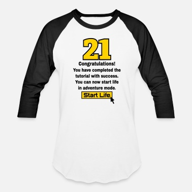 21st Birthday 21 birthday - Baseball T-Shirt