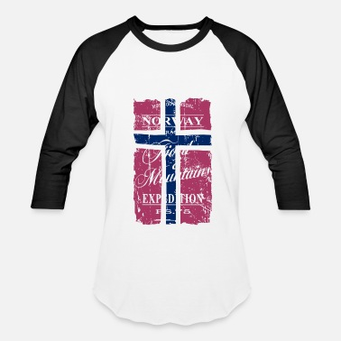 Norway Norway - Fjord & Mountains - Baseball T-Shirt