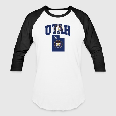Utah Flag Map - Baseball T-Shirt