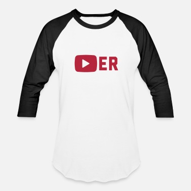Youtube Player Player - Unisex Baseball T-Shirt