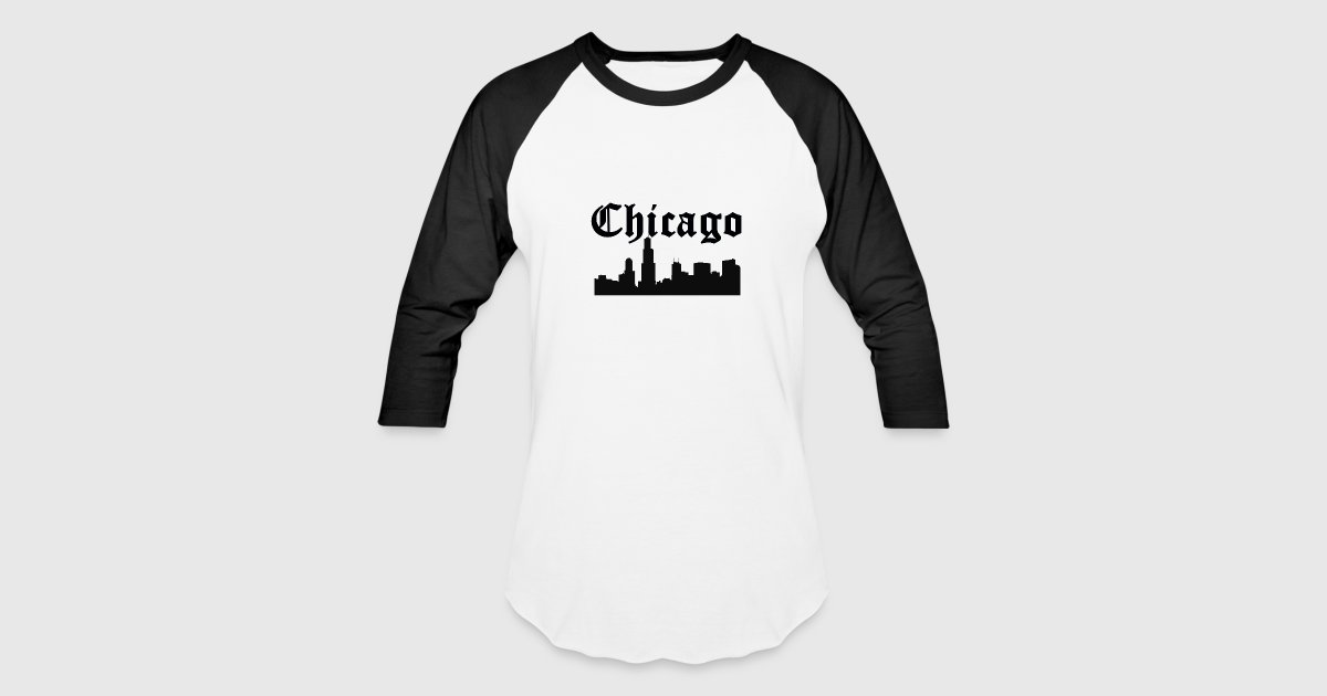 chicago skyline silhouette by design all day spreadshirt