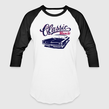 Vintage Camaro muscle car design - Baseball T-Shirt