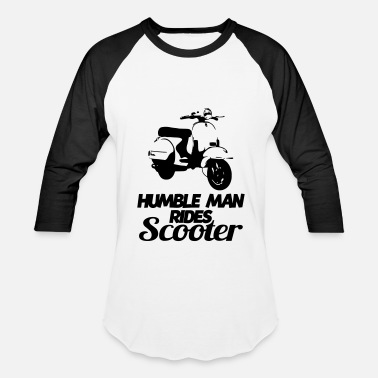 Scooter humble man rides scooter - Unisex Baseball T-Shirt