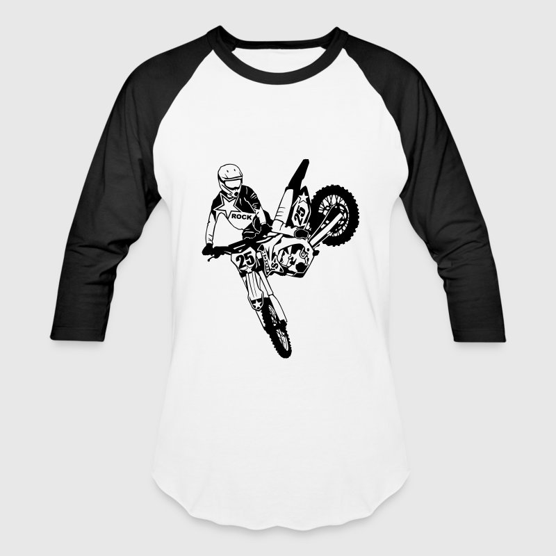 Moto Cross - Supercross - Baseball T-Shirt