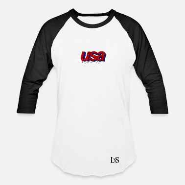 Luxus & USA Long Sleeve Tee  - Baseball T-Shirt