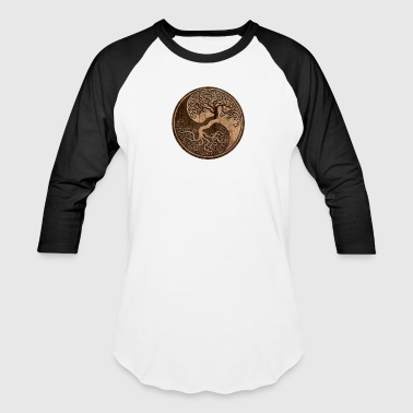Tree of Life Yin Yang - Baseball T-Shirt