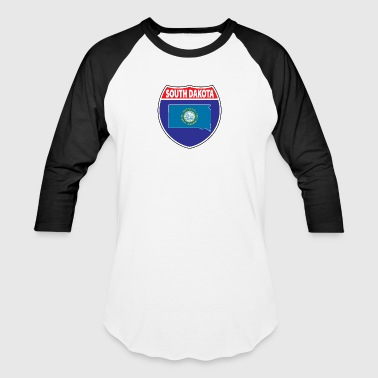 South Dakota Flag Hwy - Baseball T-Shirt