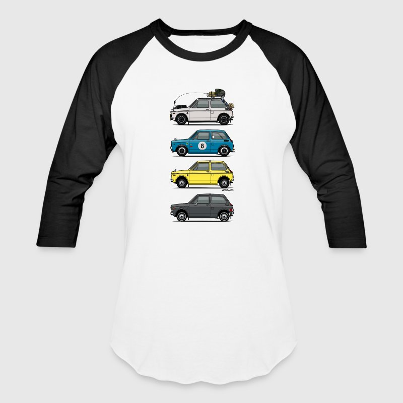 Stack of  Vintage Honda N360 N600 Kei Cars - Baseball T-Shirt